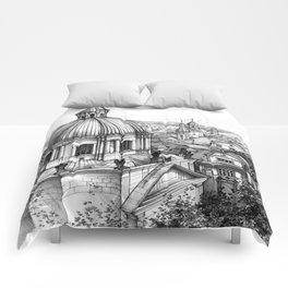 Prague over the rooftops Comforters