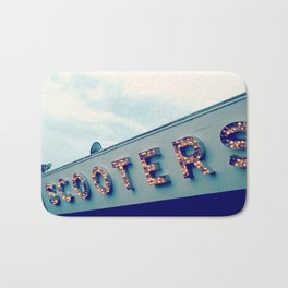 Scooters ~ vintage carnival sign ~ lights Bath Mat