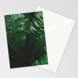 Dark green leaves Stationery Cards