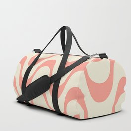 Summer in Rio - Living Coral Copa Cabana Pattern Duffle Bag
