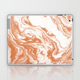 Marble Suminagashi copper 4 watercolor pattern art pisces water wave ocean minimal design Laptop & iPad Skin