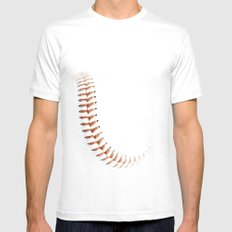 Baseball stitch Mens Fitted Tee White SMALL