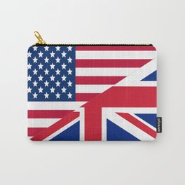 American and Union Jack Flag Carry-All Pouch