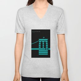 New York Skyline: Brooklyn Bridge Unisex V-Neck