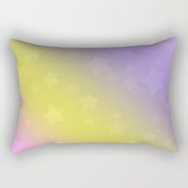 Star rain yellow, pink . Rectangular Pillow