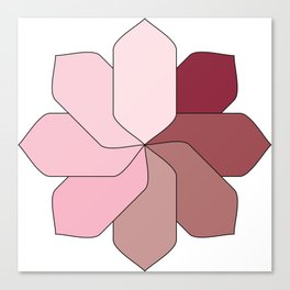 Flower Gradient Canvas Print