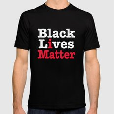 BLACK LIVES MATTER (inverse version) Mens Fitted Tee Black MEDIUM
