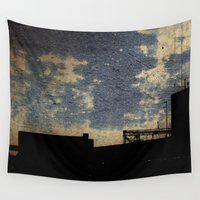 industrial Wall Tapestries featuring Industrial grunge by MJ'designs - Marosée Créations