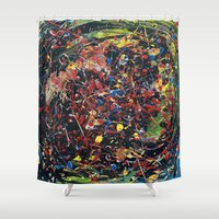 spawn Shower Curtains featuring Minion Spawn by Christina Stavers