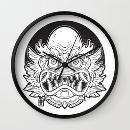 Oni from the Black lagoon Wall Clock