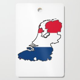 Netherlands Map with Dutch Flag Cutting Board