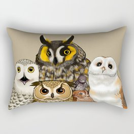 Owl Family Photo Rectangular Pillow