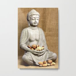 Nuss Buddha Metal Print