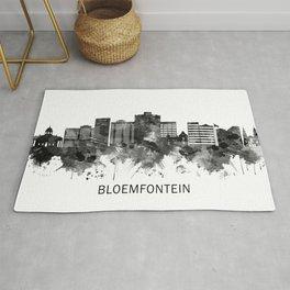 Bloemfontein South Africa Skyline BW Rug
