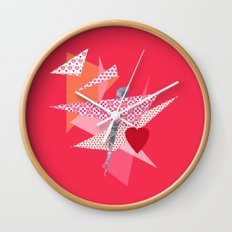 Valentines Abstract Wall Clock