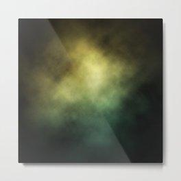 Yellow-Green Nebula Metal Print