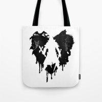 castlevania Tote Bags featuring I LOVE Castlevania by Marcos Raya Delgado