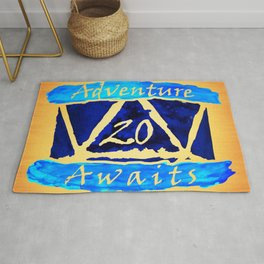 D20 Adventure Awaits Watercolor Cleric's Trail Rug