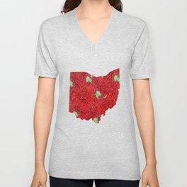 Ohio in Flowers Unisex V-Neck
