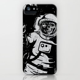 BOO !! Astronaut Skeleton Science Shirts iPhone Case