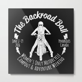 The Backroad Ball (white version) Metal Print