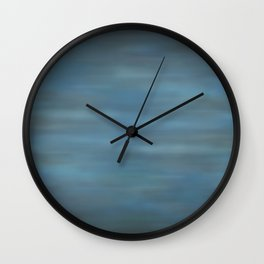 Abstract Soft Watercolor Blend Graphic Design 12 Black, Dark Blue and Light Blue Wall Clock