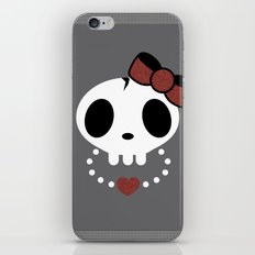 punk rawk girl iPhone & iPod Skin
