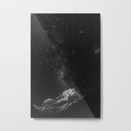Mount Tasman Under The Stars. Metal Print