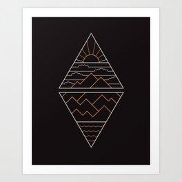 Earth Air Fire & Water Art Print