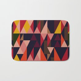 Vintage vibes_in warm hues Bath Mat