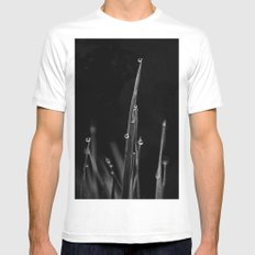 Black Grass MEDIUM Mens Fitted Tee White