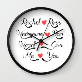 Valentine's Romance: books-tv Wall Clock