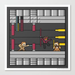 Mega Boss Battles - Darth Maul vs. Obiwan & Qui Gon Canvas Print