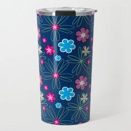 Multifloral Pattern Travel Mug
