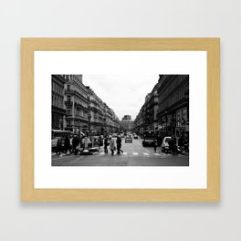 Pedestrian crossing Framed Art Print