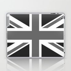 UK Flag, High Quality in grayscale Laptop & iPad Skin