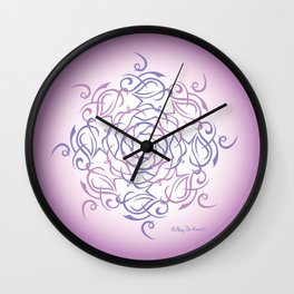 Namaste Mandal Glow - Purple Pink Wall Clock