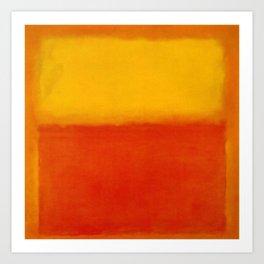 1956 Orange and Yellow by Mark Rothko HD Art Print