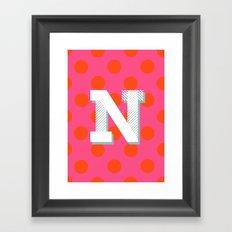 N is for Nice Framed Art Print