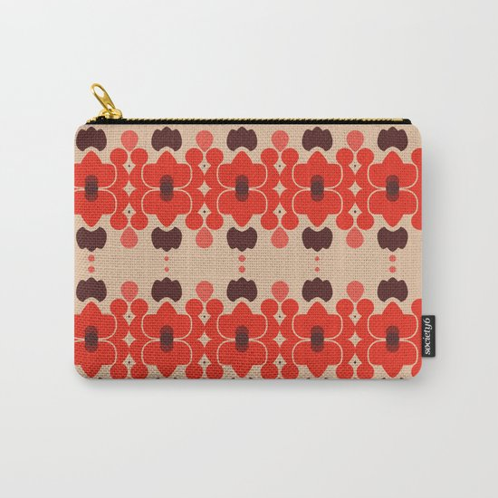 Red pattern rouge 6 Carry-All Pouch