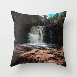 Dead River Falls 1 Throw Pillow