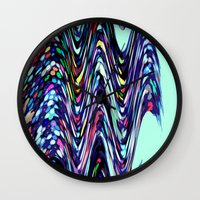 sprinkles Wall Clocks featuring Sprinkles by Taylor Murray