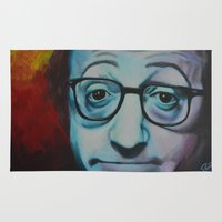 woody allen Area & Throw Rugs featuring Woody Allen by Boaz