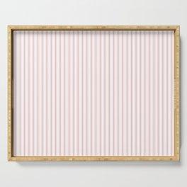 Thin Lush Blush Pink and White Mattress Ticking Stripes Serving Tray