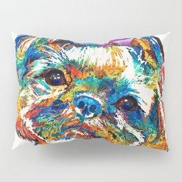 Colorful Shih Tzu Dog Art By Sharon Cummings Pillow Sham