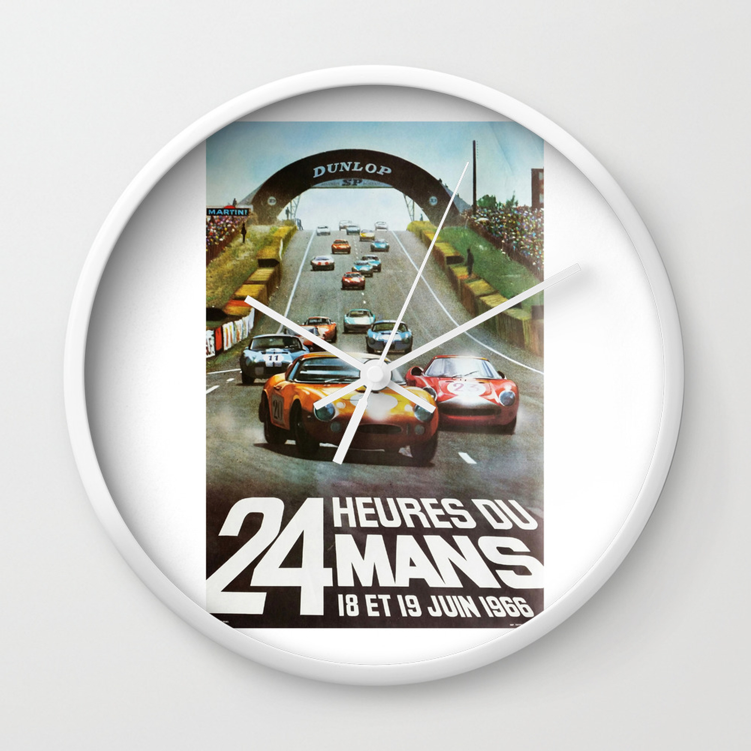 1966 Le Mans Poster Race Poster Car Poster Garage Poster Wall Clock By Alma Design Society6