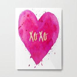 XOXO Poster, Pink iPhone Case, Pillows Mugs amd Towels, T-Shirts, Wall Art Metal Print