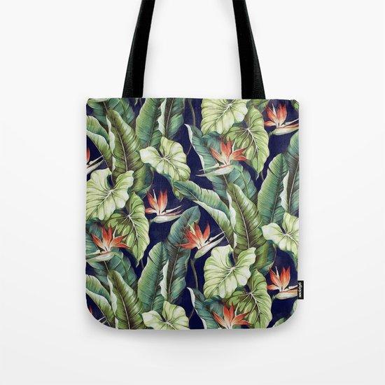 Night tropical garden II Tote Bag