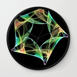 Octagon Swirl abstract Wall Clock