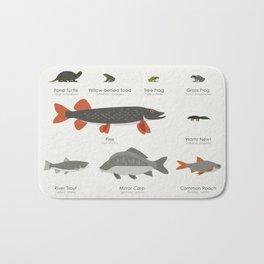 Common Water Animals Bath Mat